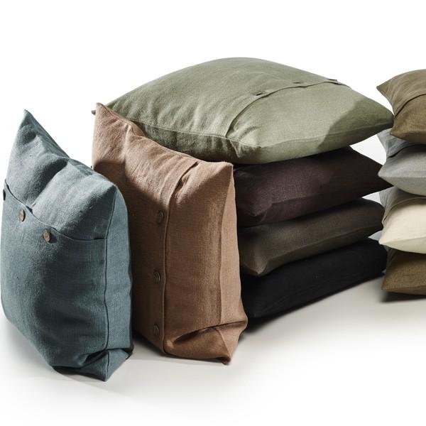 beaux coussins carr s d houssables en lin cologique nature. Black Bedroom Furniture Sets. Home Design Ideas