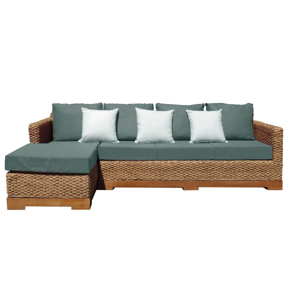 canap d 39 angle chanvre lin mousse bio tress fibres naturelles. Black Bedroom Furniture Sets. Home Design Ideas
