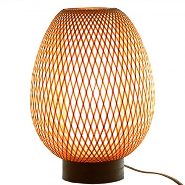 Lampe En Corce De Bambou Naturel Bel Objet Artisanal Et