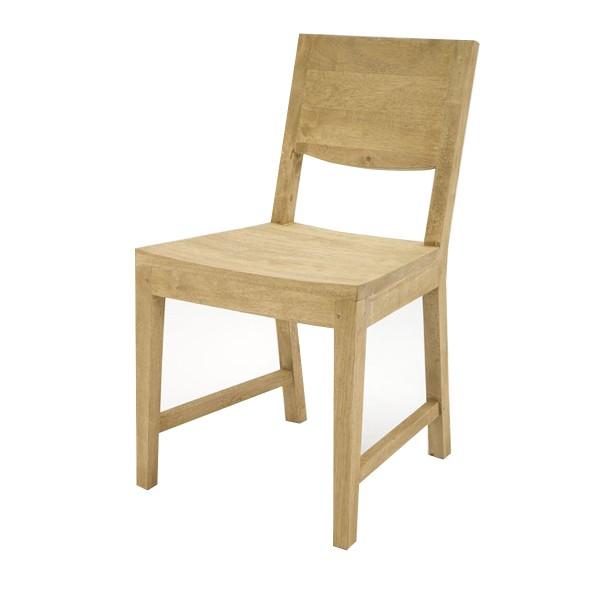 Chaise en bois massif clair contemporaine aux finitions naturelles