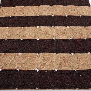 Tapis naturel bicolore