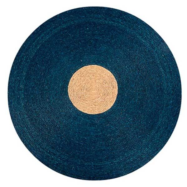 tapis rond en lutindzi tr s proche du chanvre bicolore pour un effet graphique tr s d co. Black Bedroom Furniture Sets. Home Design Ideas