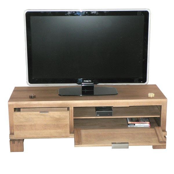 meuble tv bas en hetre – Artzein.com