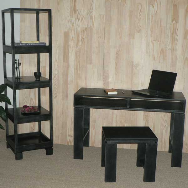 console casier qui se transforme en bureau d 39 appoint h tre pefc finition cologique. Black Bedroom Furniture Sets. Home Design Ideas