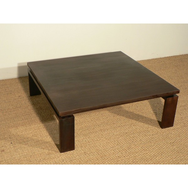 Table basse carree orme for Table basse carree bois