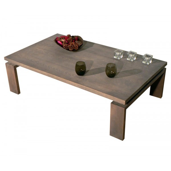 table basse made in france sobre et l gante bois h tre pefc. Black Bedroom Furniture Sets. Home Design Ideas
