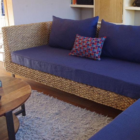 Grand canapé d'angle Tandem bleu