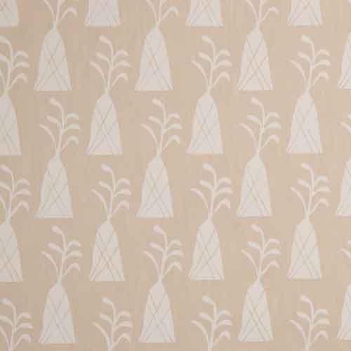 Toile coton Palm tree écu et sable